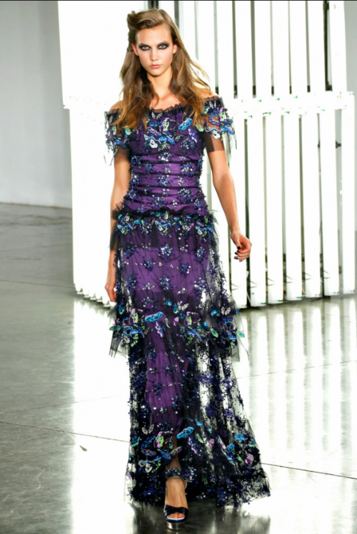 Purple Peacock - Rodarte NY FW Sept. 2011