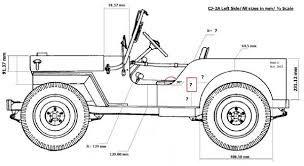 resultado de imagen para willys jeep dimensions