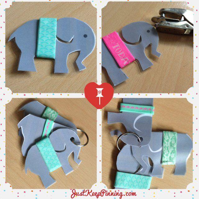 How to make an Elephant washi tape holder