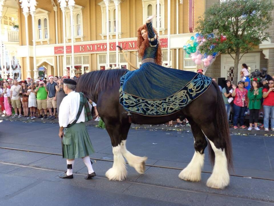 Merida from Brave from Christmas Parade Taping at Magic Kingdom ...