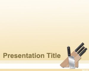 Kitchen knife powerpoint template is another free template for kitchen knife powerpoint template is another free template for kitchen presentations featuring knifes in the slide toneelgroepblik Images