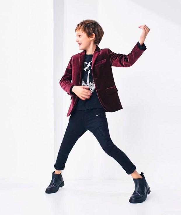 gran venta envio GRATIS a todo el mundo mayor selección de 2019 Moda infantil Zara Kids. Blazer de terciopelo para niño ...