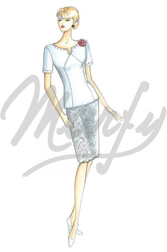 Sewing pattern Shirts / TunicSewing Pattern 3408 PDF | marfy ...