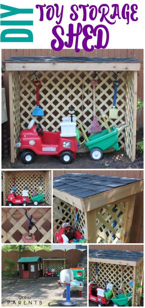Merveilleux DIY Toy Storage Shed   Outdoor Toy Storage   Kids Toy Organization #ad  #RoofedItMyself @lowes @gafroofing