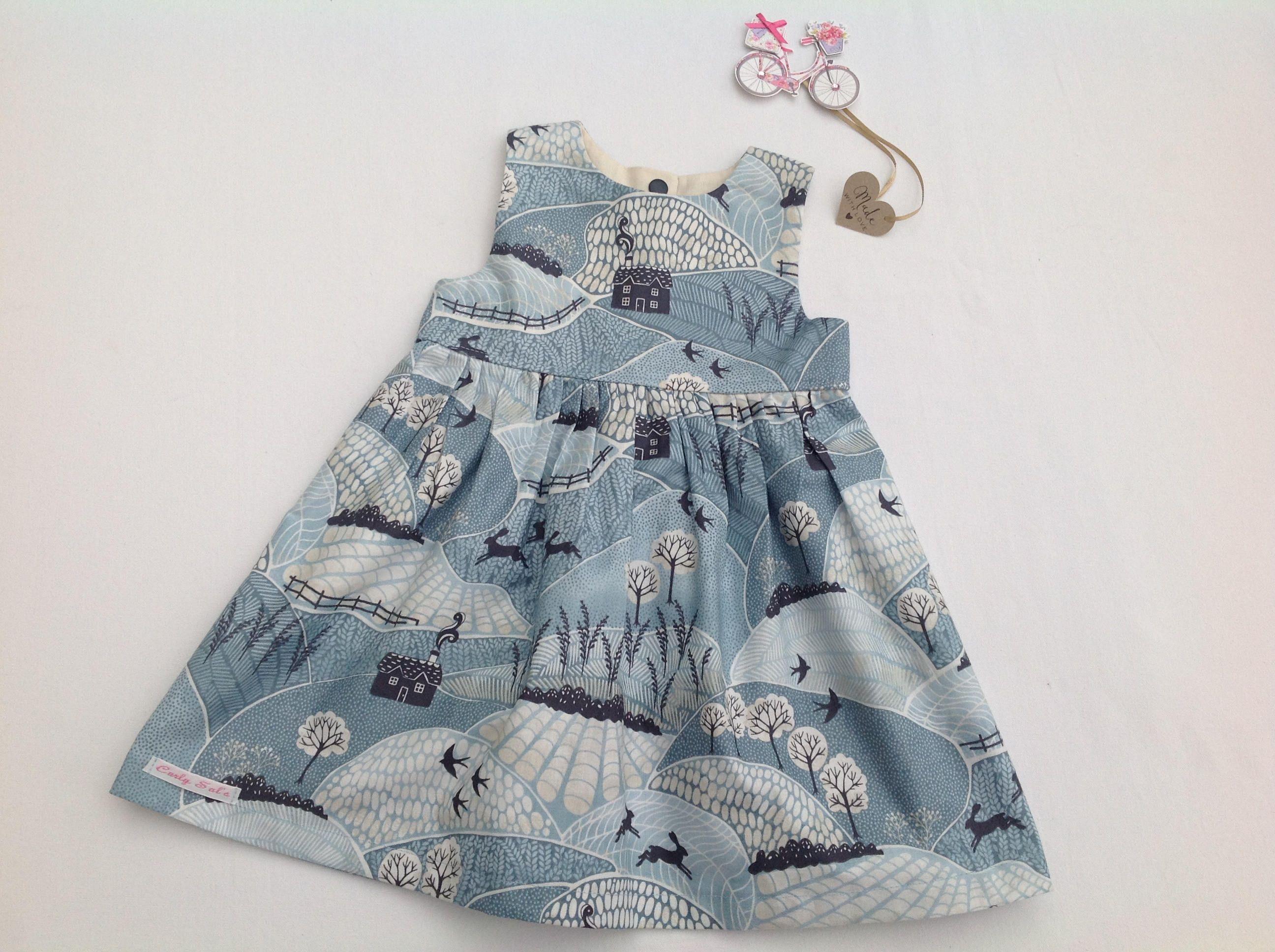 Girls blue dress baby girl girls clothing gift for christmas