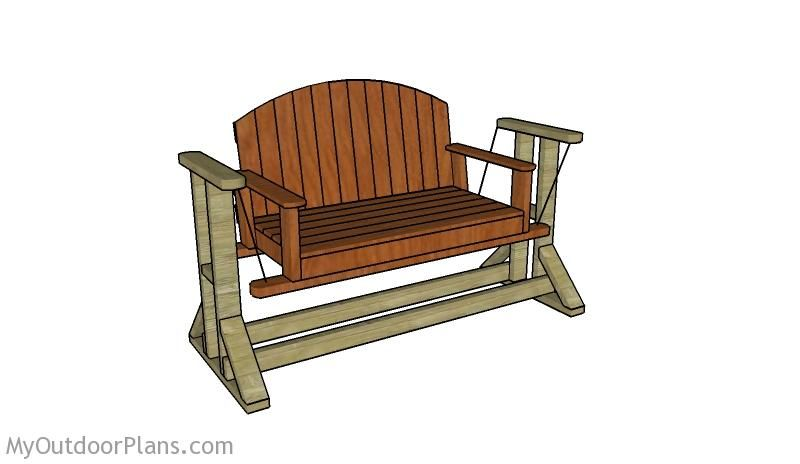 Wooden Glider Swing Plans Porch Swing Diy Porch Wooden Chair