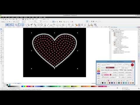 ▷ Easy Stone™ CorelDRAW Rhinestone Macro ReSpace Function - YouTube ...