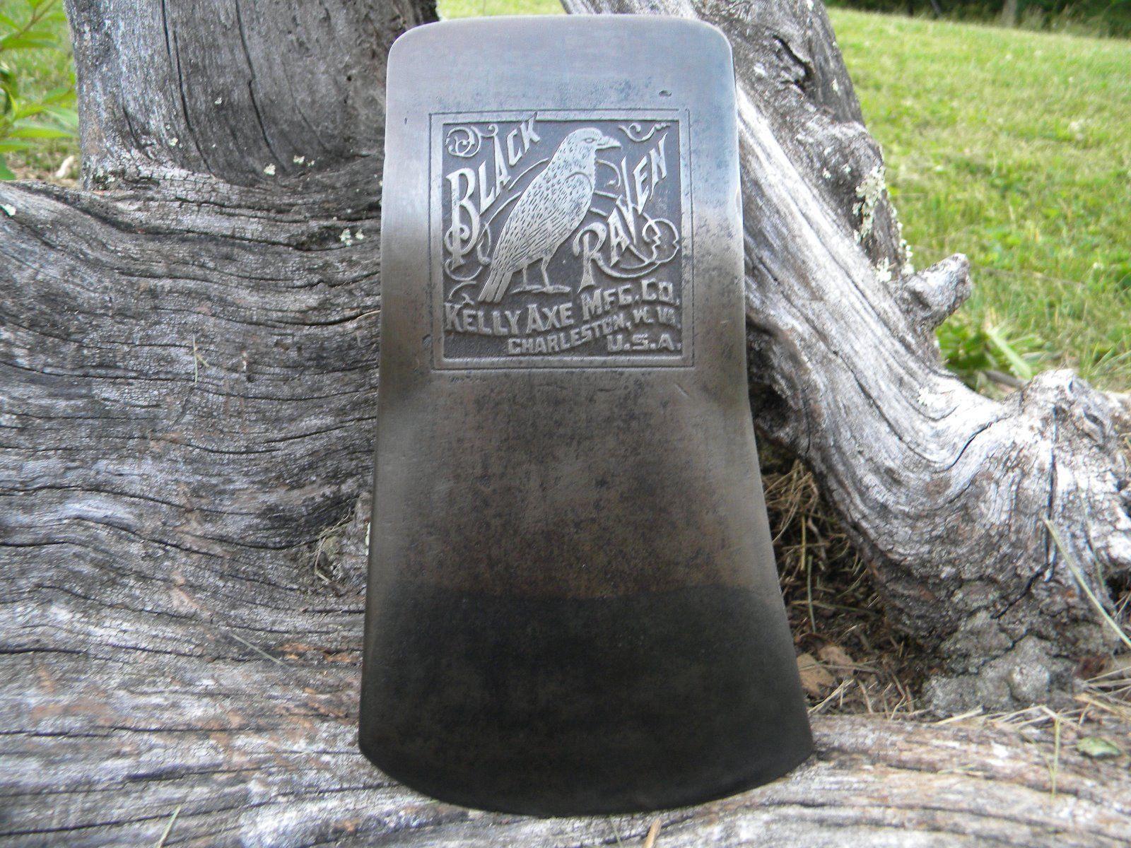 Vintage Embossed Black Raven Axe $850