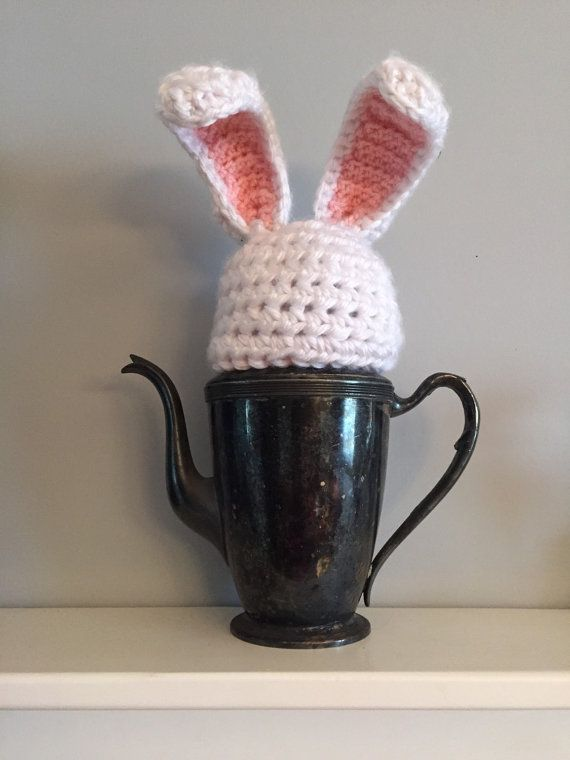 Peter Cottontail is on his way, your little bunny will hop on into Easter with this adorable beanie!