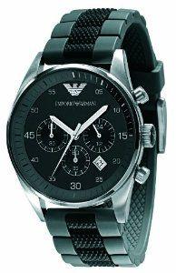 0aa2e3b1415 Emporio Armani Men s AR5866 Black Chronograph Dial Watch
