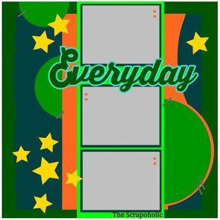 The Scrapoholic Everyday Scrapbook page