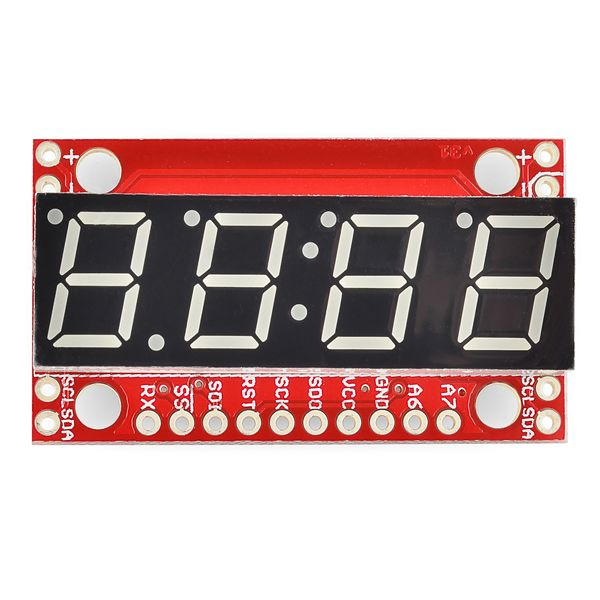 SparkFun 7-Segment Serial Display - Red