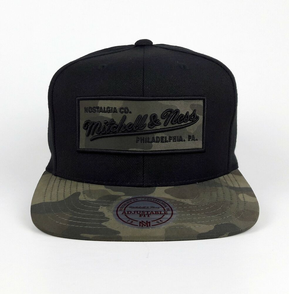 Mitchell /& Ness Basecap Snapback Brand Logo Patch black NEU!