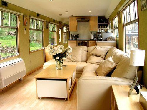 Converted train car tiny house living pinterest for Car house