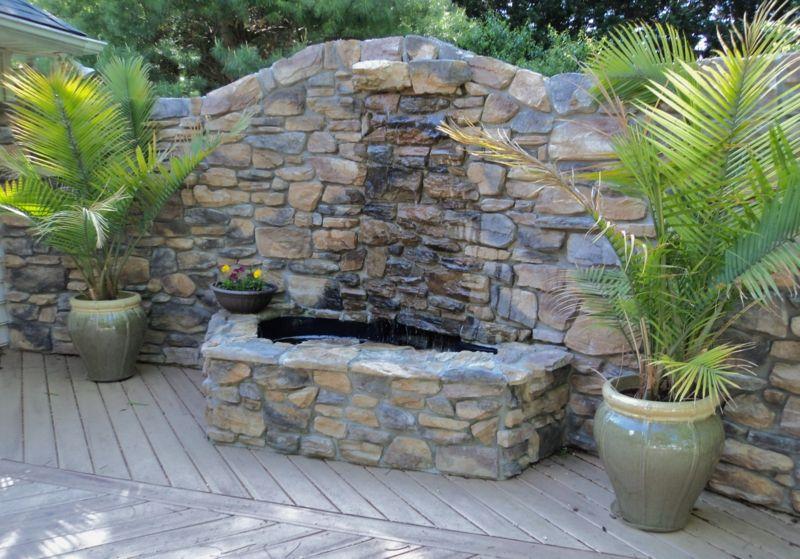 Terrassen » Garten-Brunnen aus Stein \u2013 30 Ideen für dekorative Zier - brunnen garten stein