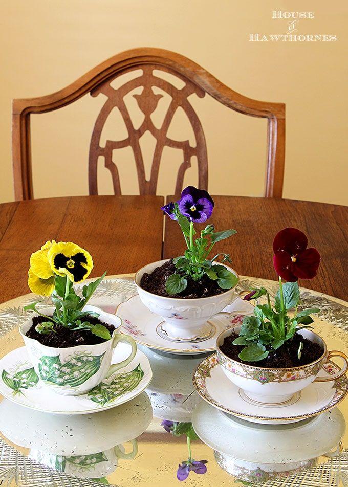 Spring Teacup Table Decorations Spring Table Decor Diy Christmas Table Spring Tablecloths
