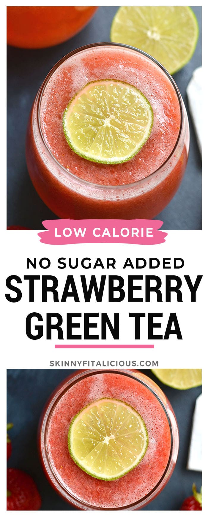 Photo of Naturally Sweetened Strawberry Lime Green Tea