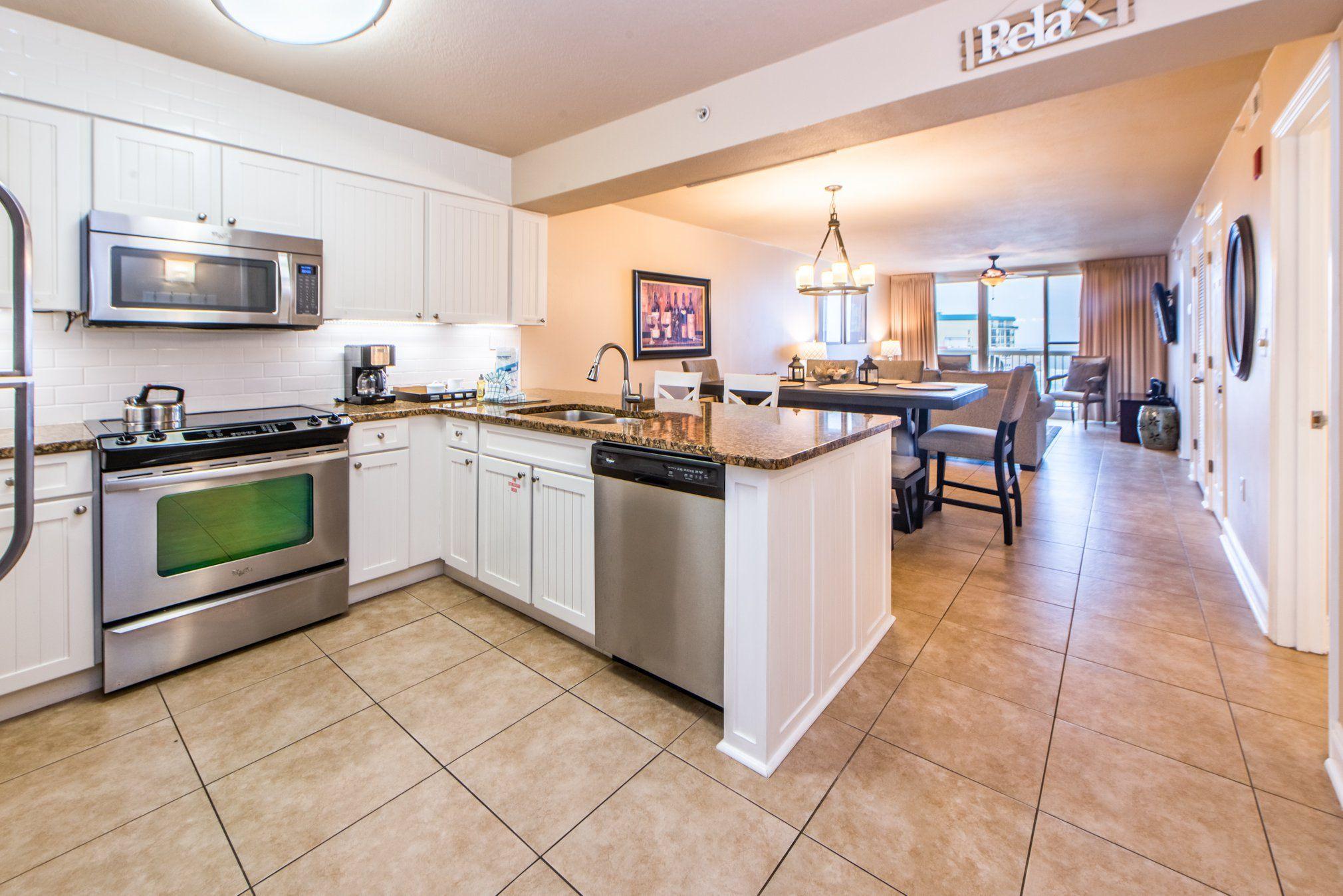 Pelican Beach Resort 1917 has a spacious kitchen & dining ...