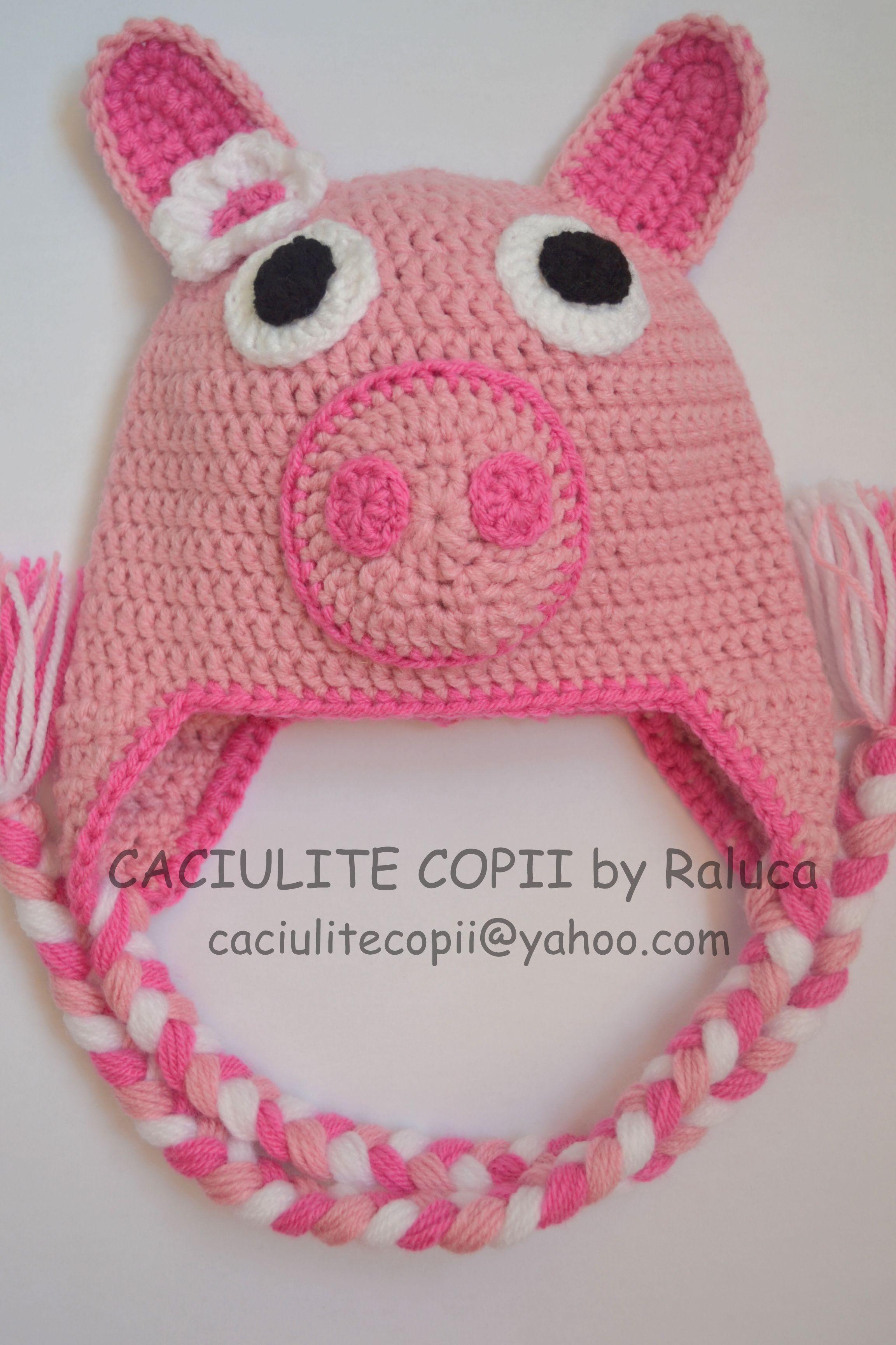 Peppa pig - baby hat | Crochet hats and scarfs | Pinterest