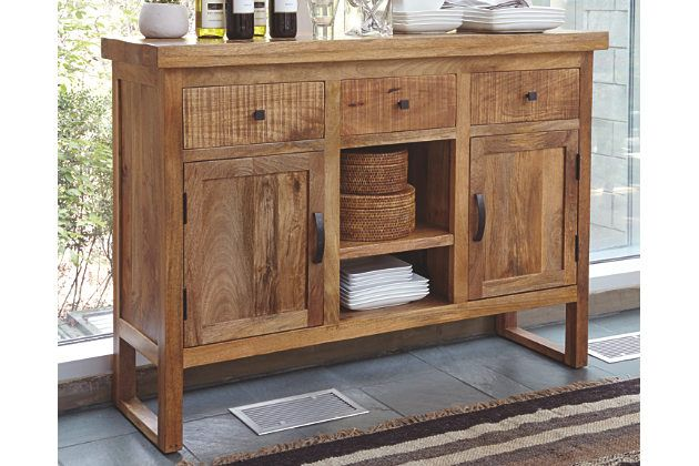 Blending Highly Distressed Wood An Ultra Clean Lined Profile And Ample Open And Closed Storage