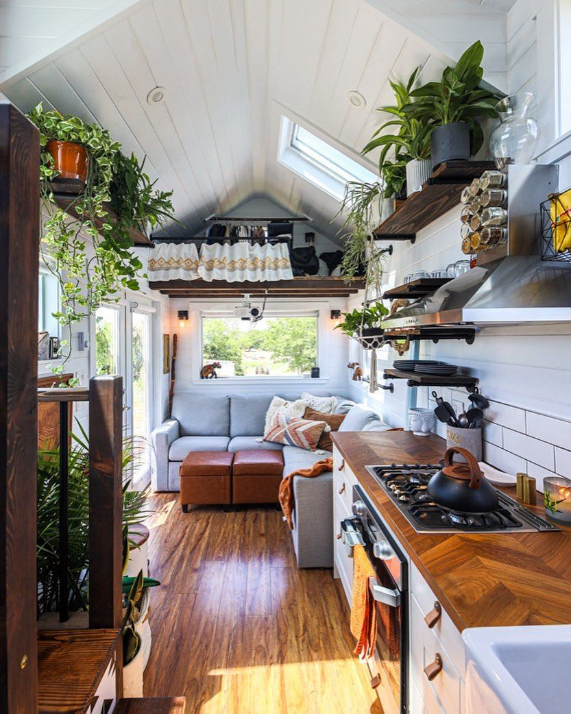 Living Big In A Tiny House On Instagram Simply Stunning Check Our The Full Tour In Our Lat Diy Tiny House Plans Tiny House Interior Design Diy Tiny House