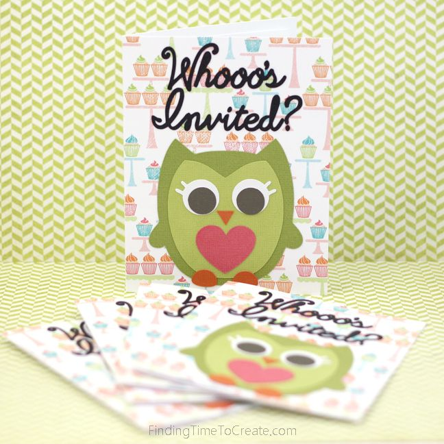 Owl Party Invitations With The Silhouette
