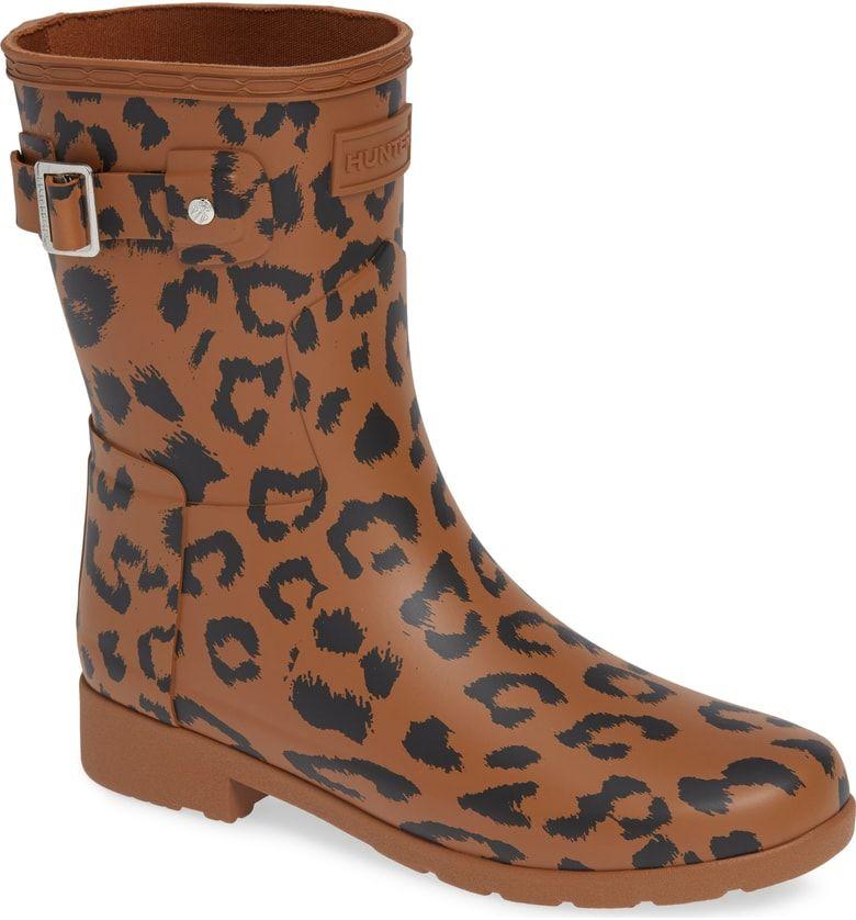 leopard print rain boots womens