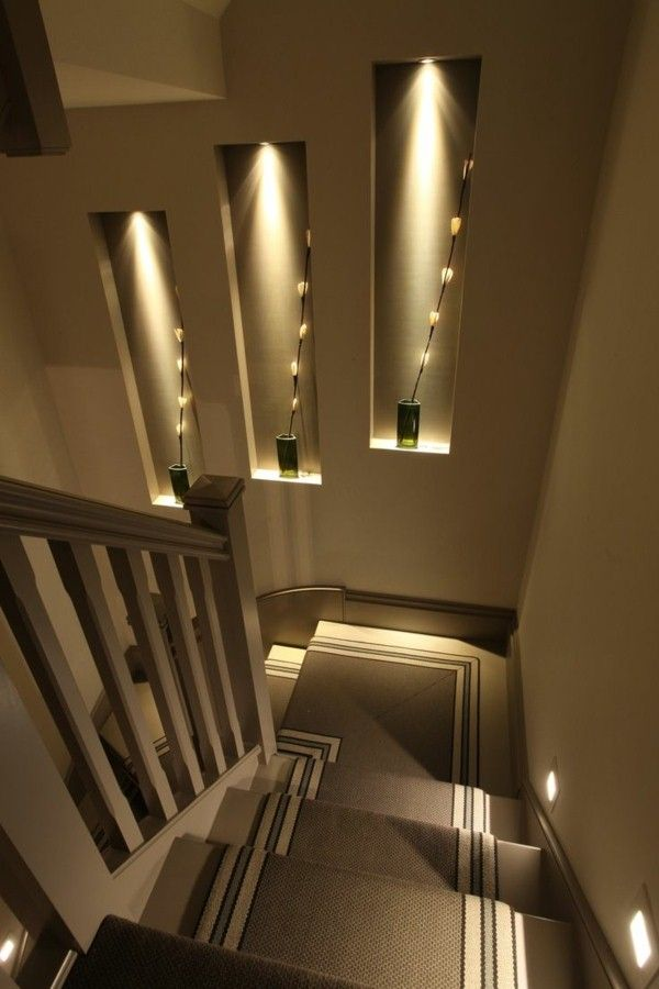 Lighting Basement Washroom Stairs: Modern Chic Stairs Lighting !