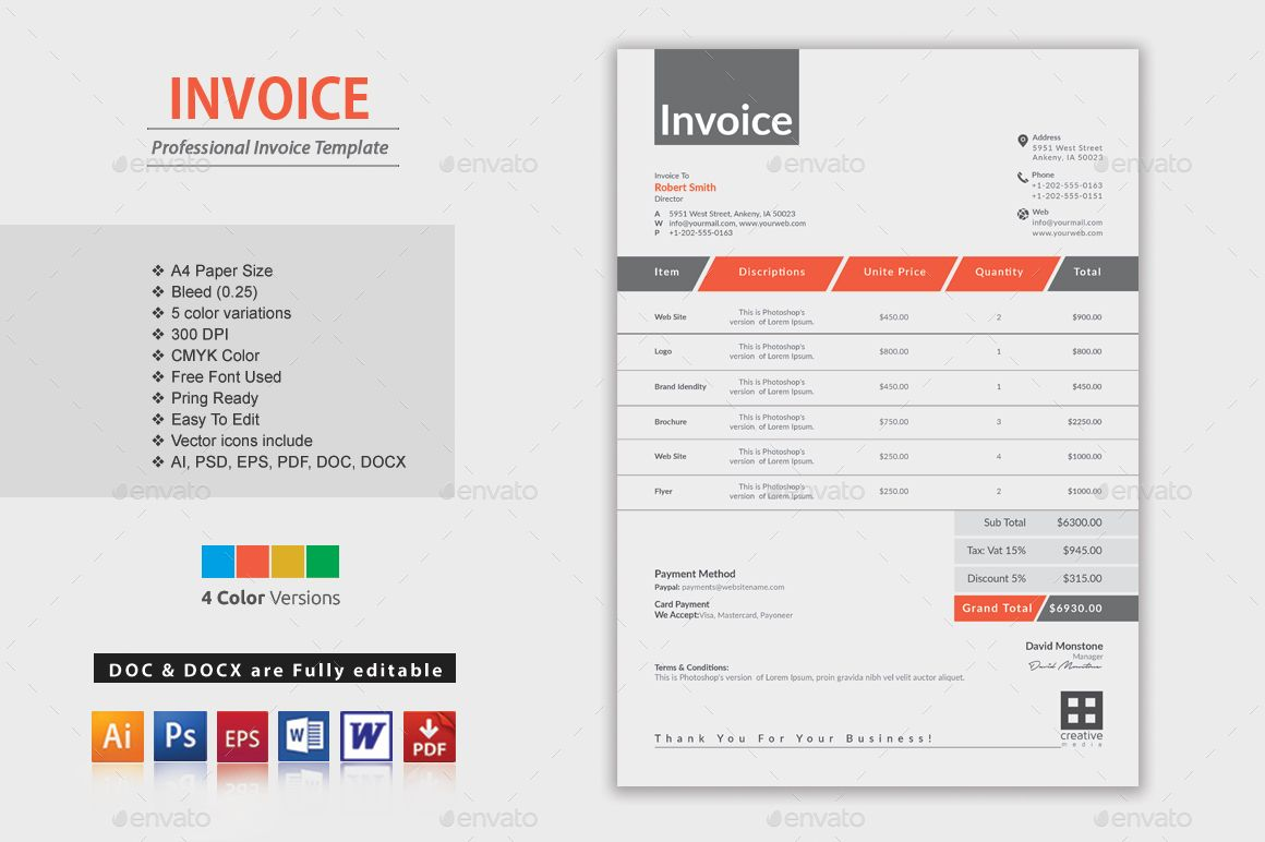 Invoice Excel  Template And Purpose