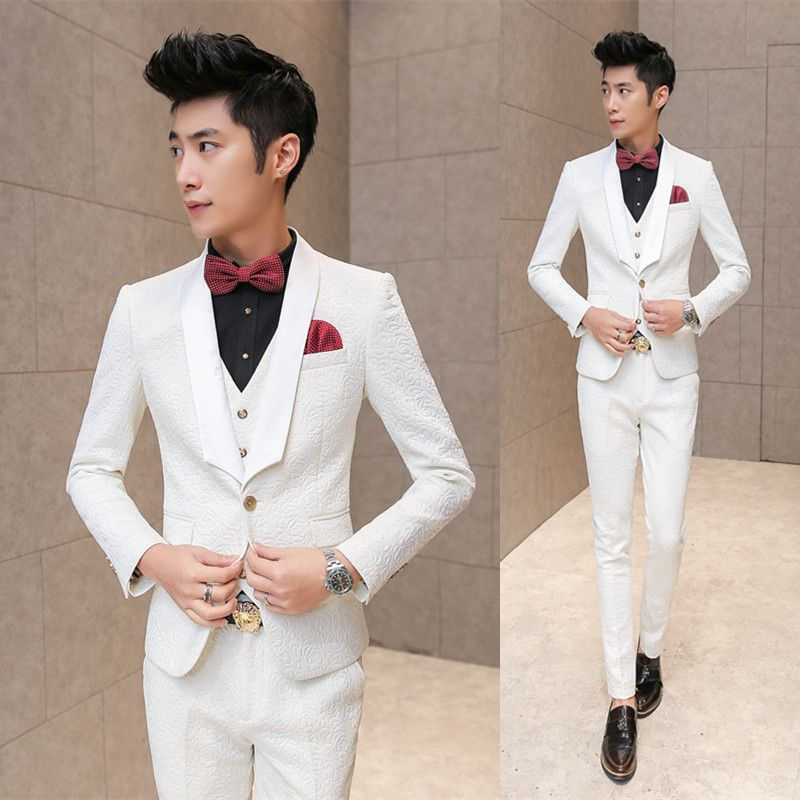 Click to Buy << 3 piece Mens tuxedo suits tuxedos for men trajes ...