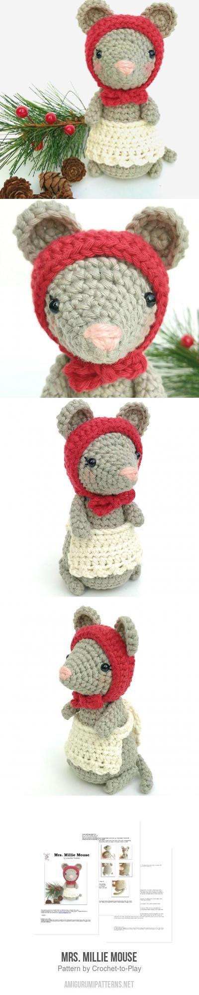 Mrs Millie Mouse Amigurumi Pattern Haakwerk Pinterest Breien