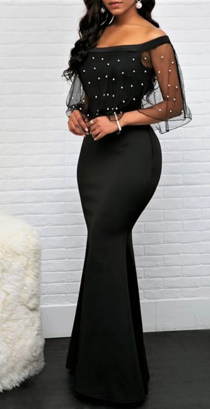 Pin By Ruth On African Fashion Ankara Dinner Dress Classy Black Dresses Classy Women Dresses Classy