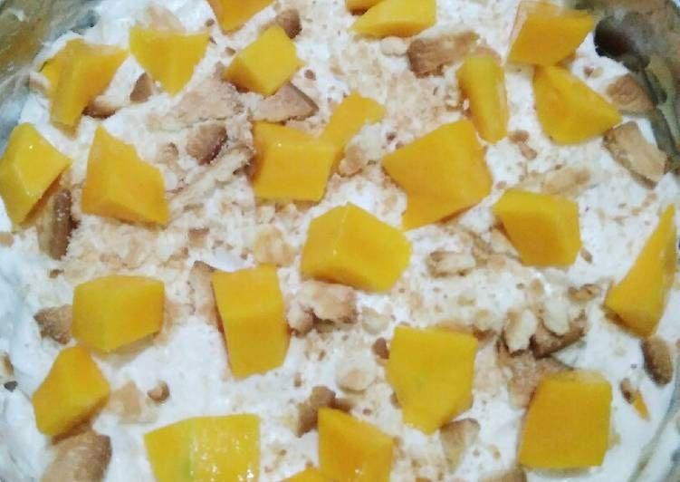 Resep Rahasia Cake Mangga Creamy Resep Di 2020 Graham Crackers Puding Mangga Biskuit