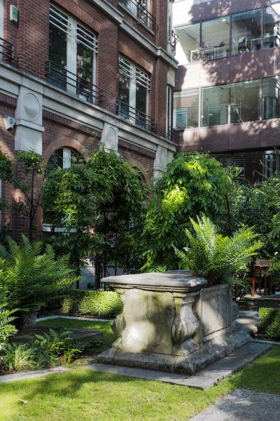 6 inspiring city garden ideas from London is part of City garden, London garden, Shade garden design, Urban garden, Temple gardens, Shade garden - City garden ideas from London  how to create a green haven in difficult spaces  See a roof garden, The Skip Garden and a garden in a ruin