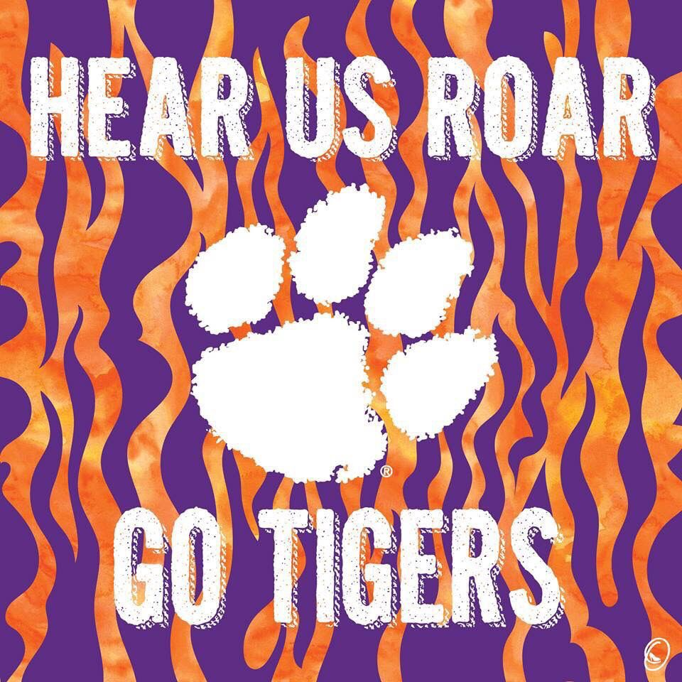 Pin by Autumn Wood on Clemson Clemson tigers, Tiger paw