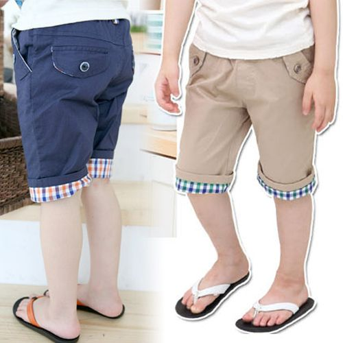 6a805c032 New Style Kids Summer Breif Plaid Flanging Half Pants for Little Boys  Casual Capris,High Quality flange standard,China flange spreader Suppliers,  ...