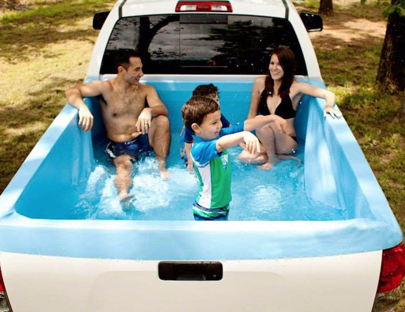 Pickup Pools A Truck Bed Swimming Pool Truck Bed Camping Bed Tent Camping Beds