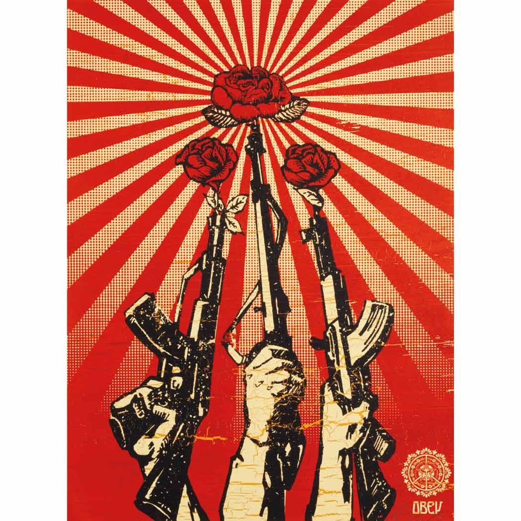 Shepard Fairey American, b. 1970 Guns and Roses, 2006