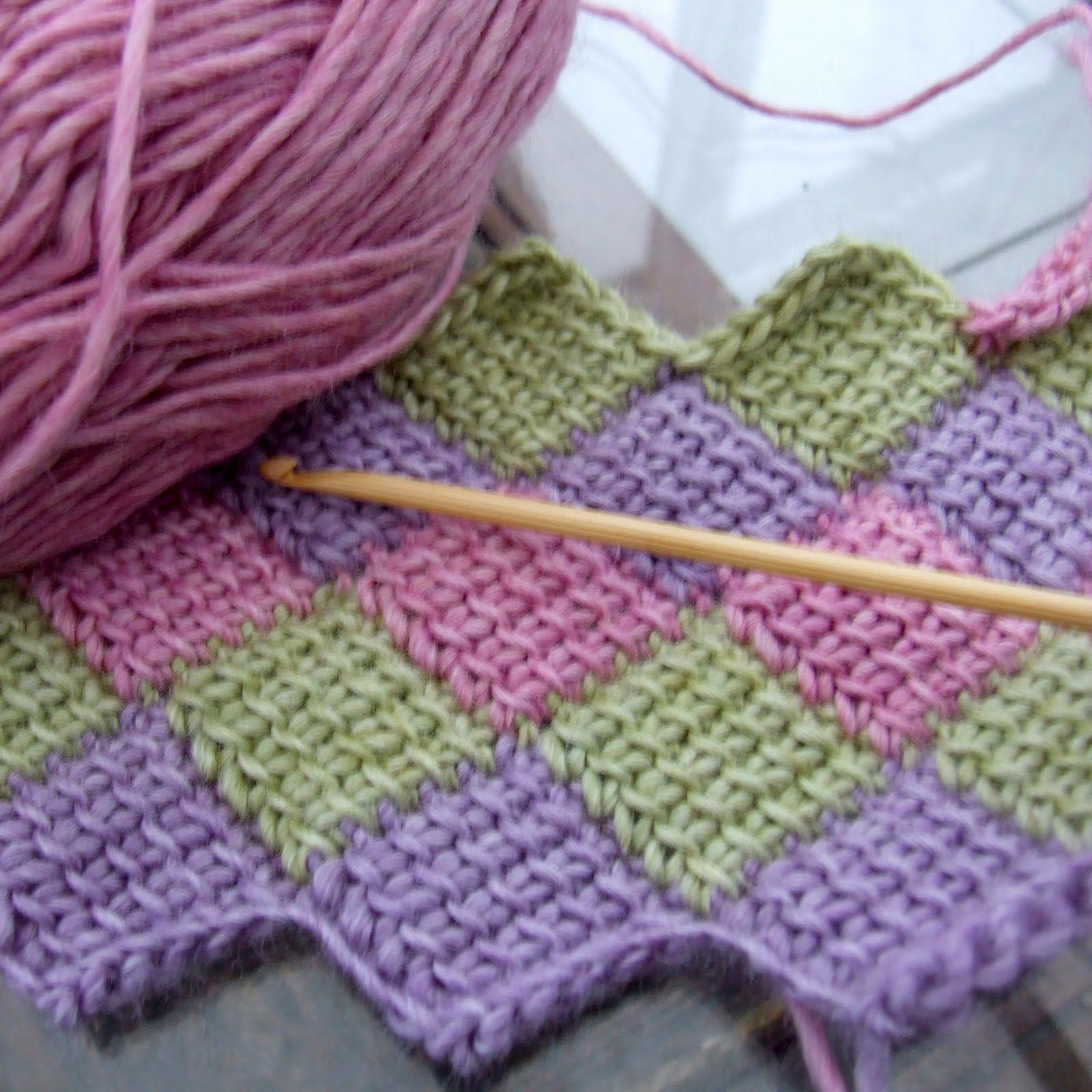 tunesisches h keln stricken h keln knitting crochet. Black Bedroom Furniture Sets. Home Design Ideas