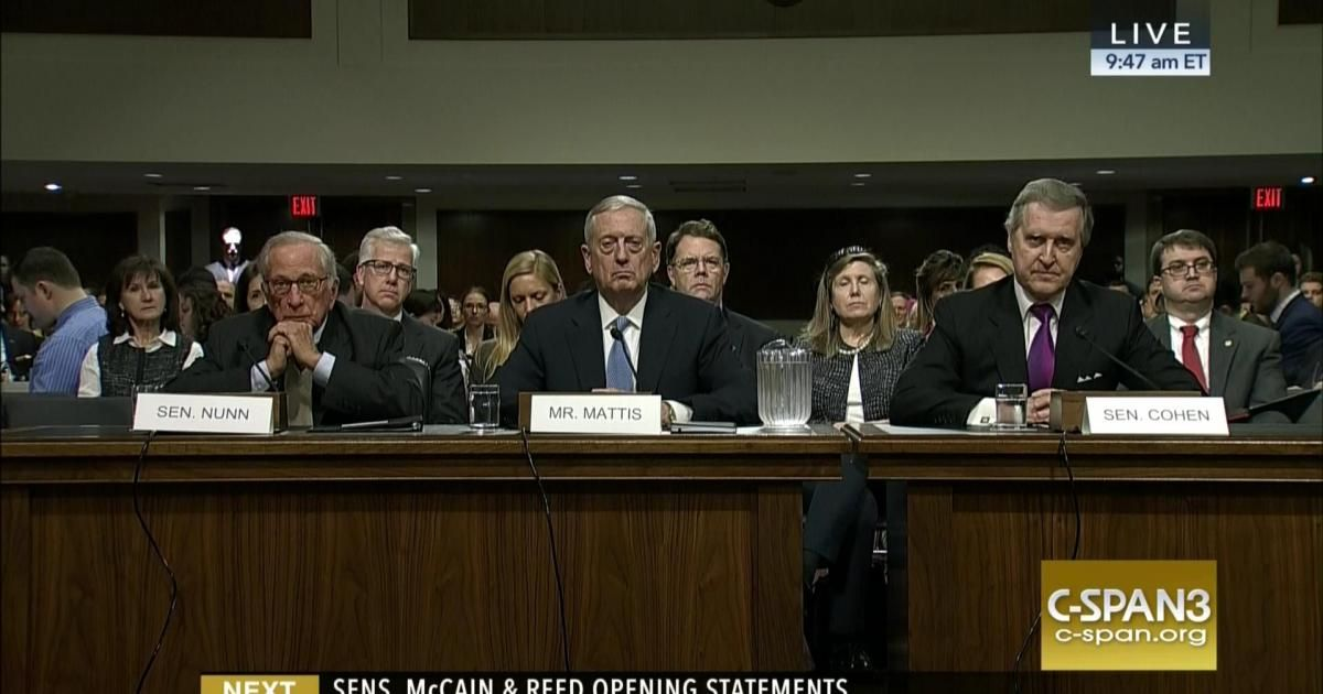General James Mattis (Ret.) testifies before the Senate Armed Services Committee on his nomination to be secretary of Defense. He says he has a 'high degree of confidence' in the intelligence…