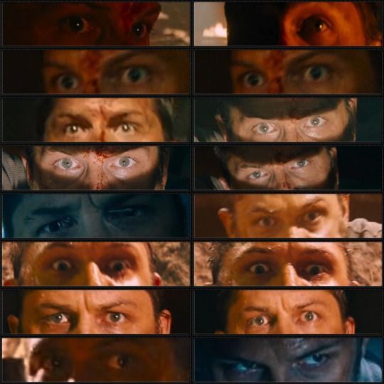 Tom Hardy's eyes in Mad Max Fury Road. I am going to draw all of them.