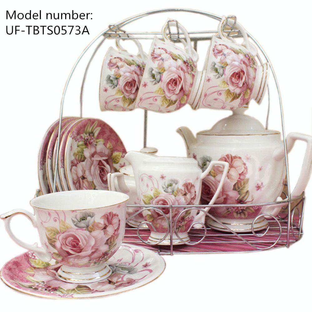 European Pastoral Style Tea sets Ceramic Porcelain Tea