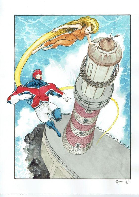 Captain Britain and Meggan by Daniel Govar