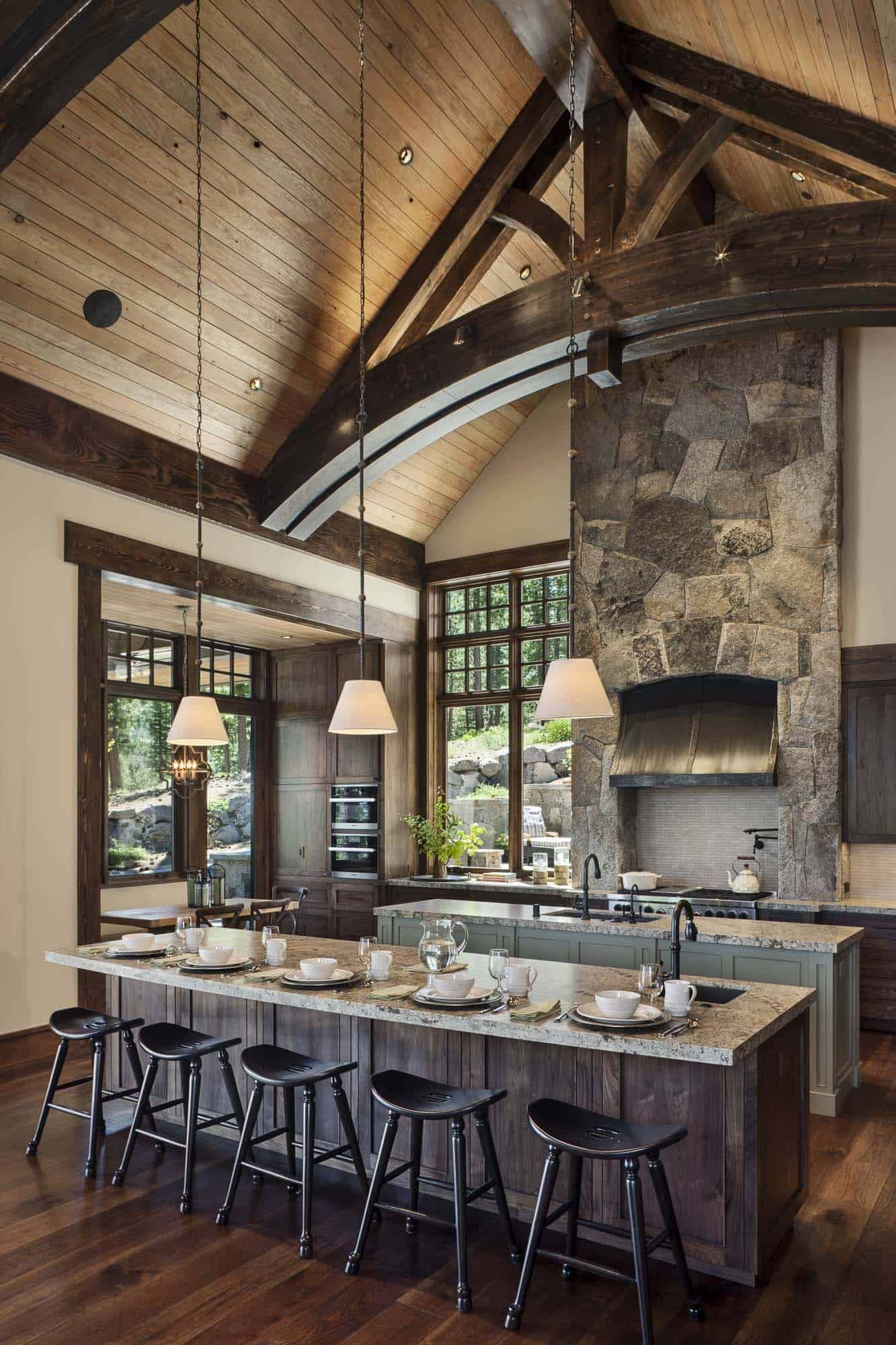 Gorgeous Rustic Mountain Retreat With Stylish Interiors In Martis