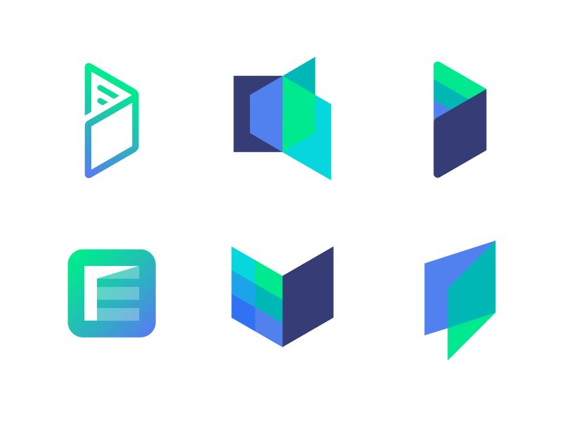 Logo Concepts Explorations For Edugate Logo Concept Money Logo Origami Logo