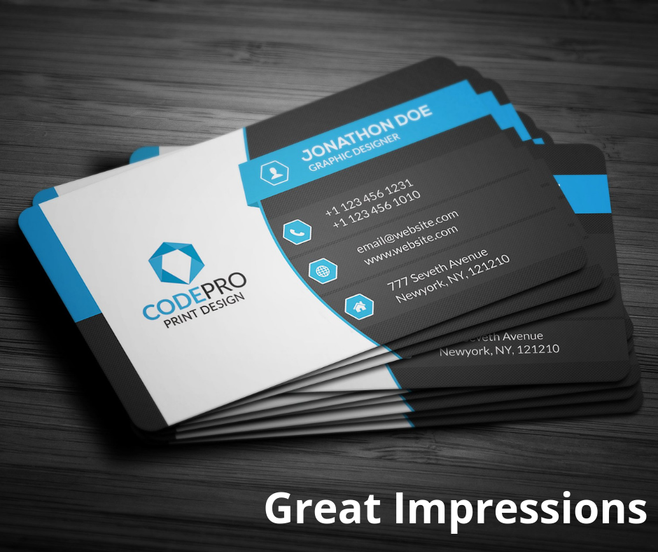 Great Deals From Great Impressions Graphic Printing Create Business Cards Business Card Template Word Free Business Card Templates