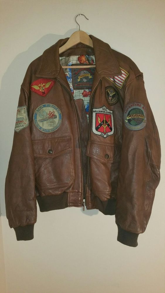 96fd3ee061e mens vintage brown leather bomber jacket xl  ADVENTUREBOUNDWILSONSLEATHER   FlightBomber