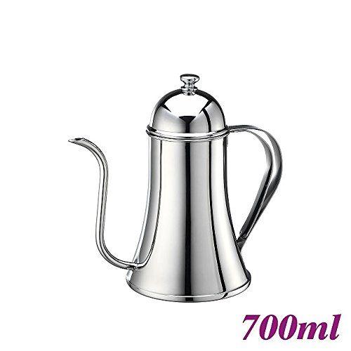 Tiamo ステンレス 細口コーヒーポット(700ml・IH対応)