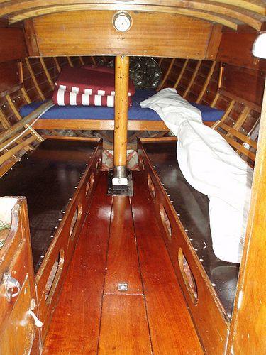 cabin | Wooden boats, Sailboat interior, Wooden boat building