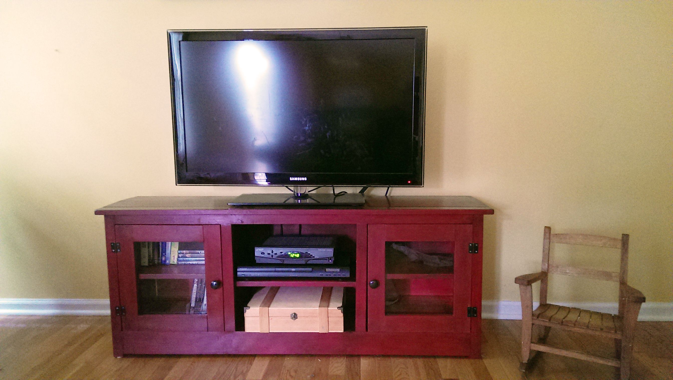 Ana white media console painted board furniture pinterest ana white media console geotapseo Image collections